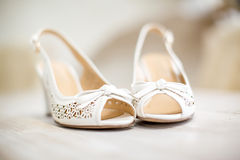 Wedding Bride's Shoes Royalty Free Stock Images