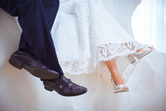 Wedding Bride's Shoes Royalty Free Stock Image