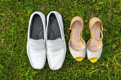 Wedding Bride's Shoes Royalty Free Stock Photos