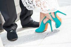 Wedding Bride's Shoes Stock Photo
