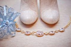 Wedding bride shoes Stock Image