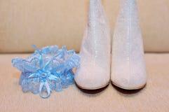 Wedding bride shoes Royalty Free Stock Photos