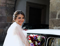 Wedding bride smiling Royalty Free Stock Image