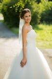 Wedding bride smiling Royalty Free Stock Photography