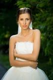 Wedding bride smiling Royalty Free Stock Image