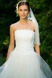 Wedding bride smiling Stock Photos