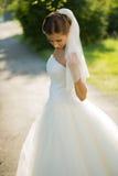 Wedding bride smiling Stock Photography