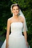 Wedding bride smiling Stock Photo