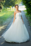 Wedding bride smiling Royalty Free Stock Photo