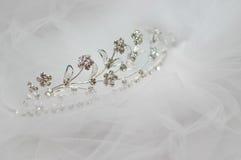 Wedding bride tiara Royalty Free Stock Photography