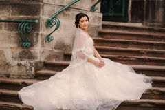 Wedding bride walking Stock Images