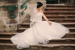 Wedding bride walking Royalty Free Stock Image