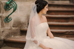 Wedding bride walking Stock Photography