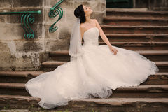 Wedding bride walking Stock Image