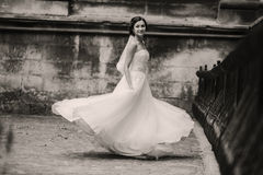 Wedding bride walking Stock Photos