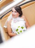 Wedding bride in white dress Royalty Free Stock Photo