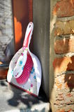 Wedding broom and dustpan Royalty Free Stock Image