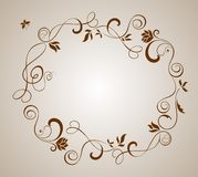 Wedding brown border vector illustration