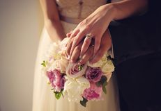 Wedding buchet. Wedding photo of the bouchet royalty free stock photography