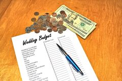 Wedding Budget Royalty Free Stock Photos