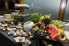 Wedding buffet with Cuisine Culinary Buffet Food stock photography