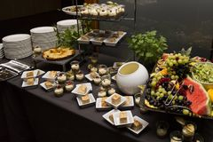 Wedding buffet with Cuisine Culinary Buffet Food stock image