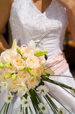 Wedding bunch. Of white roses Royalty Free Stock Photo