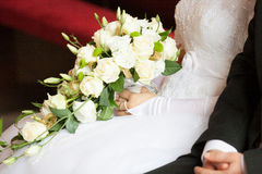 Wedding Bunch of different flowers Royalty Free Stock Photo