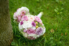 Wedding bunch of pink roses Stock Image