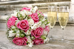 Wedding bunch of roses Royalty Free Stock Image