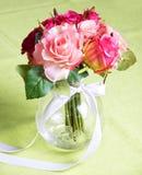 Wedding bunch on table Stock Image