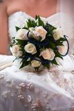 Wedding bunch of white roses Stock Image