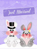 Wedding of bunnies Royalty Free Stock Images