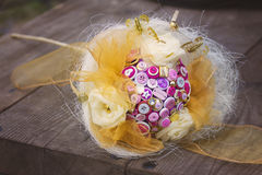Wedding button bouquet Royalty Free Stock Photography