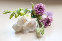 Wedding buttonhole boutonniere Royalty Free Stock Photos