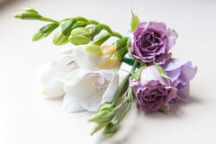 Wedding buttonhole boutonniere Royalty Free Stock Photography
