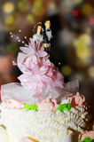 Wedding cake. Beauty, bouquet, buds Stock Photo