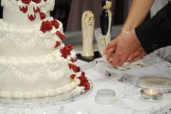 Wedding cake. Cake at a wedding Royalty Free Stock Photo