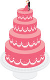 Wedding Cake. Decorated with cream and sugar on the women's male figures Royalty Free Stock Images
