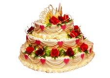 Wedding cake. Beautiful wedding cake from three tiers Royalty Free Stock Photos