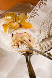 Wedding cake. With sugar lily stock photos
