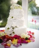 Wedding cake. On table Royalty Free Stock Photo