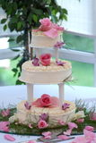 Wedding cake. An wedding cake in a countryside wedding Stock Images