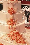 Wedding cake. Party event with decoration and wedding cake Royalty Free Stock Photo