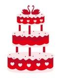 Wedding cake royalty free illustration