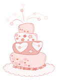 Wedding cake. Royalty Free Stock Images