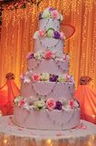 Wedding cake. Decoration with rose Stock Images