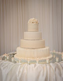 Wedding cake. At the reception on the table Royalty Free Stock Image