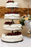 Wedding cake. Beautifully decorated tiered wedding cake Stock Photos