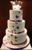 Wedding cake. Delicious funny decorated wedding cake Stock Photo